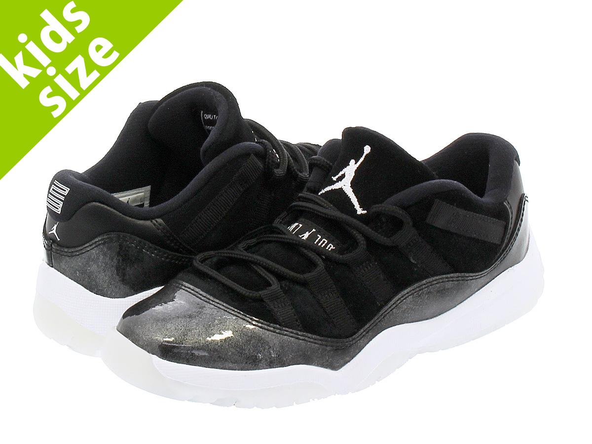 70e26dc56e98 NIKE AIR JORDAN 11 RETRO LOW BP Nike Air Jordan 11 nostalgic low BP  BLACK METALLIC SILVER WHITE