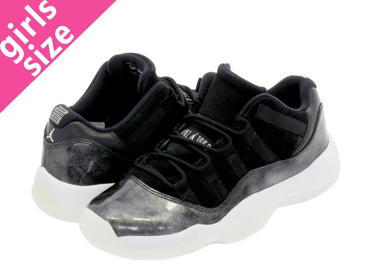 c9d0bfb8137a63 NIKE AIR JORDAN 11 RETRO LOW BG Nike Air Jordan 11 nostalgic low BG BLACK METALLIC  SILVER WHITE