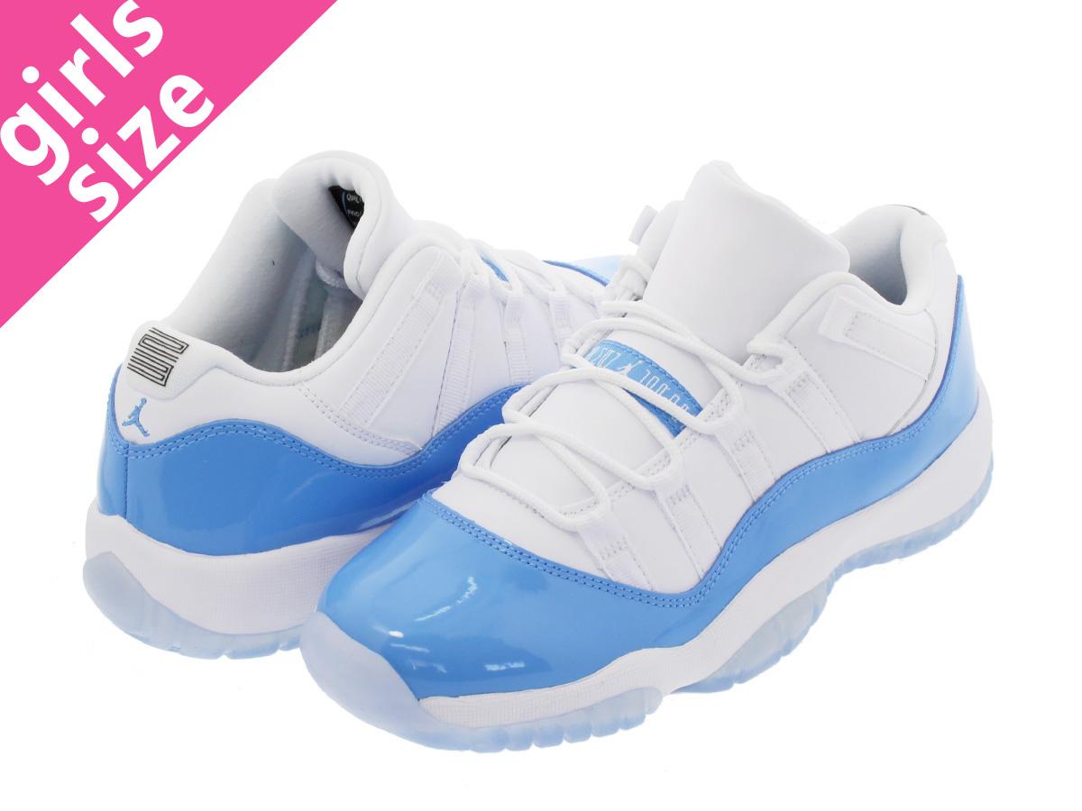 NIKE AIR JORDAN 11 RETRO LOW BG Nike Air Jordan 11 nostalgic low BG WHITE UNIVERSITY  BLUE 185366ad3c12