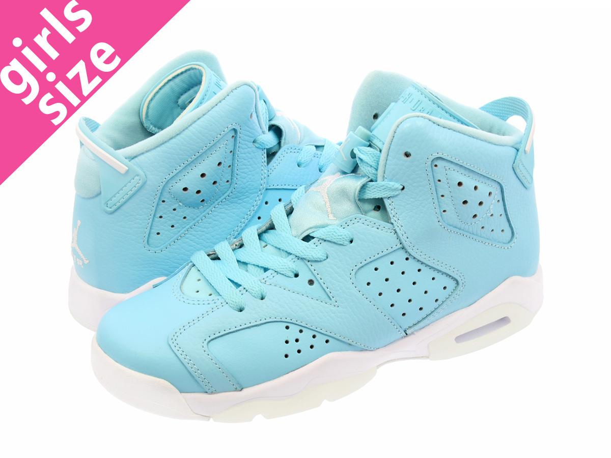 203a7c7caa1 NIKE AIR JORDAN 6 RETRO GG Nike Air Jordan 6 nostalgic GG STILL BLUE/WHITE  ...