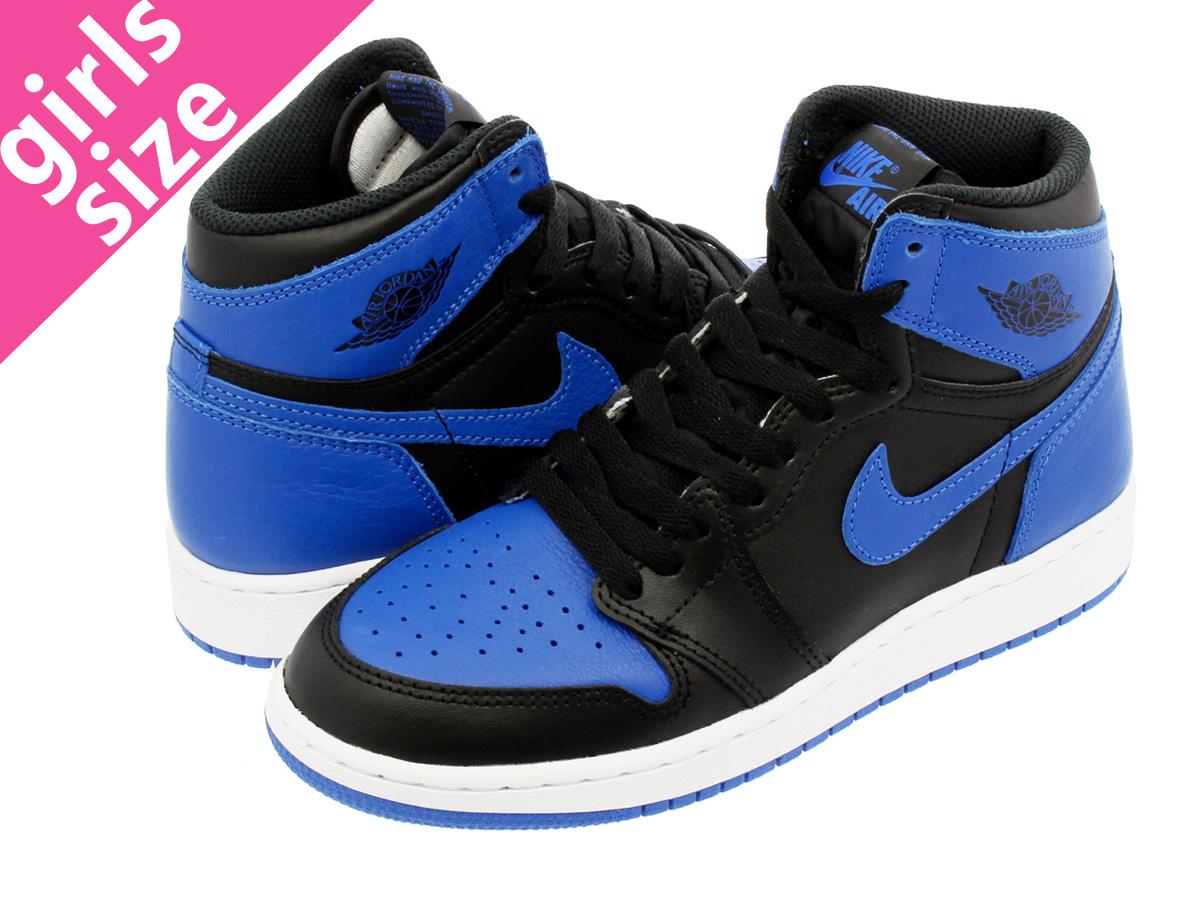 buy popular 5dbd9 12914 NIKE AIR JORDAN 1 RETRO HIGH OG GS Nike Air Jordan 1 nostalgic high OG GS  BLACK VARSITY ROYAL WHITE 575,441-007