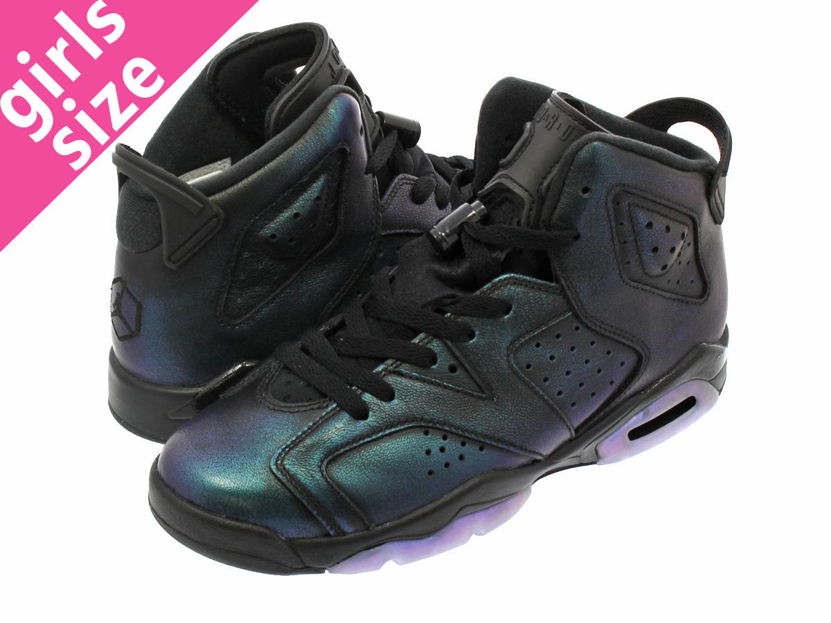 5b24cde4b2b6 LOWTEX BIG-SMALL SHOP  NIKE AIR JORDAN 6 RETRO AS BG Nike Air Jordan 6  nostalgic AS BG BLACK BLACK WHITE