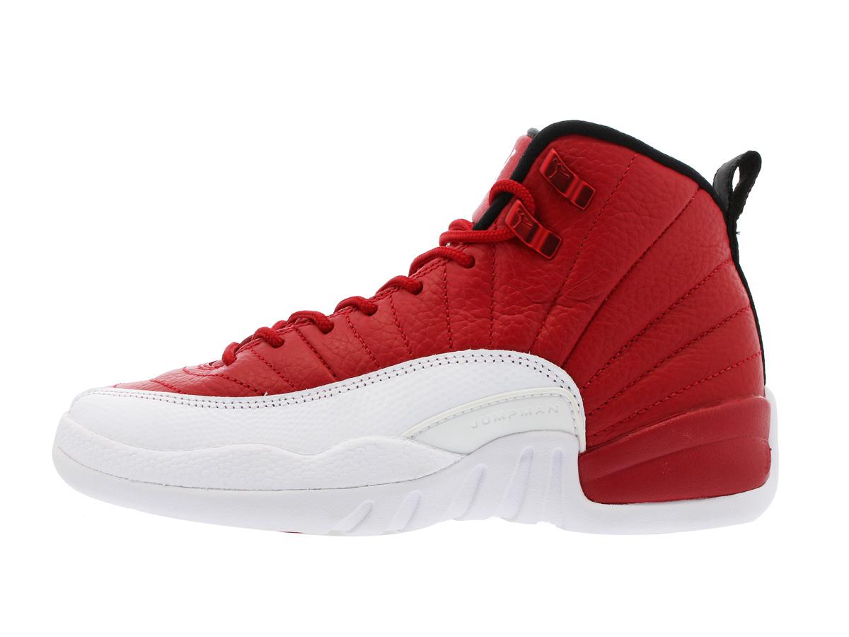 9551a0580abf NIKE AIR JORDAN 12 RETRO BG Nike Air Jordan 12 nostalgic BG GYM RED WHITE BLACK  153