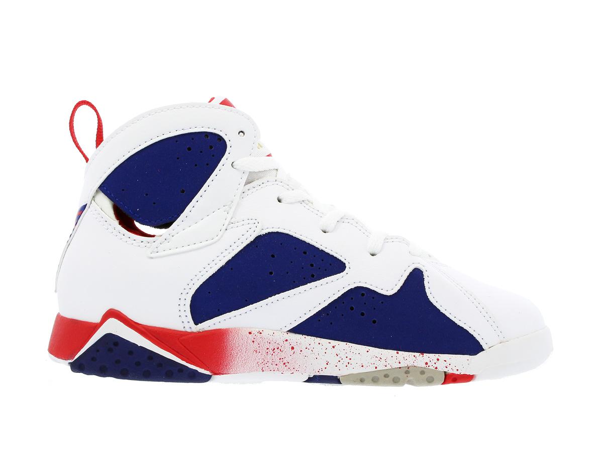 a146595cef7 NIKE AIR JORDAN 7 RETRO BP Nike Air Jordan 7 nostalgic BP WHITE/METALLIC  GOLD/ROYAL BLUE/INFRARED