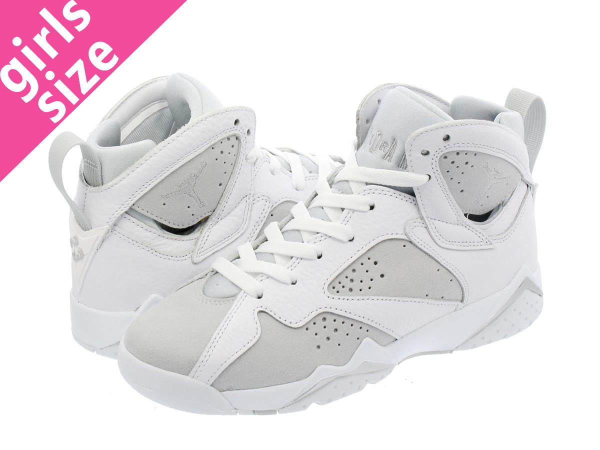 8282cd4bed8970 NIKE AIR JORDAN 7 RETRO BG Nike Air Jordan 7 nostalgic BG WHITE SILVER PURE  PLATINUM 304