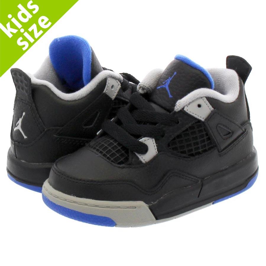 NIKE AIR JORDAN 4 RETRO TD Nike Air Jordan 4 nostalgic TD BLACK SOAR MATTE  SILVER WHITE 308 4e15b2126