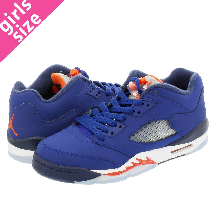 697b99cb4b8f25 LOWTEX BIG-SMALL SHOP  NIKE AIR JORDAN 5 RETRO LOW GS Nike Air Jordan 5  nostalgic low GS ROYAL BLUE ORANGE MIDNIGHT NAVY