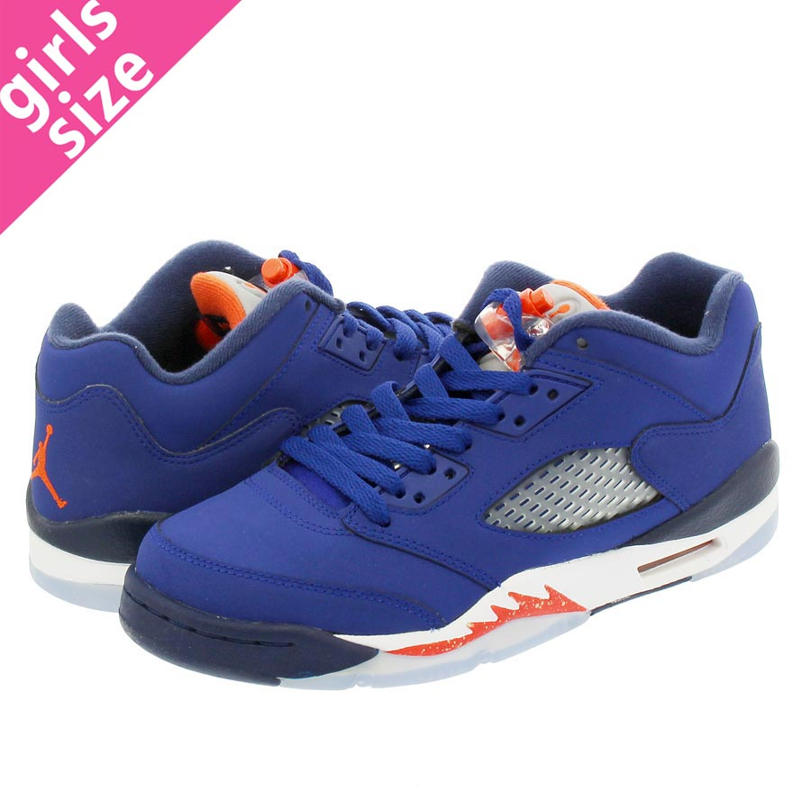 7063d3c8cdec LOWTEX BIG-SMALL SHOP  NIKE AIR JORDAN 5 RETRO LOW GS Nike Air Jordan 5  nostalgic low GS ROYAL BLUE ORANGE MIDNIGHT NAVY
