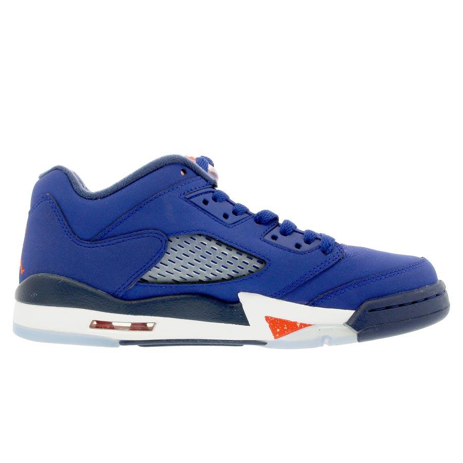 8514e6511cf8ed NIKE AIR JORDAN 5 RETRO LOW GS Nike Air Jordan 5 nostalgic low GS ROYAL BLUE  ORANGE MIDNIGHT NAVY