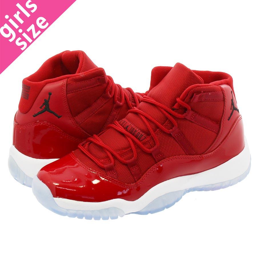 new style 66a8d 8efe7 NIKE AIR JORDAN 11 RETRO BG Nike Air Jordan 11 nostalgic BG GYM  RED/WHITE/BLACK 378,038-623