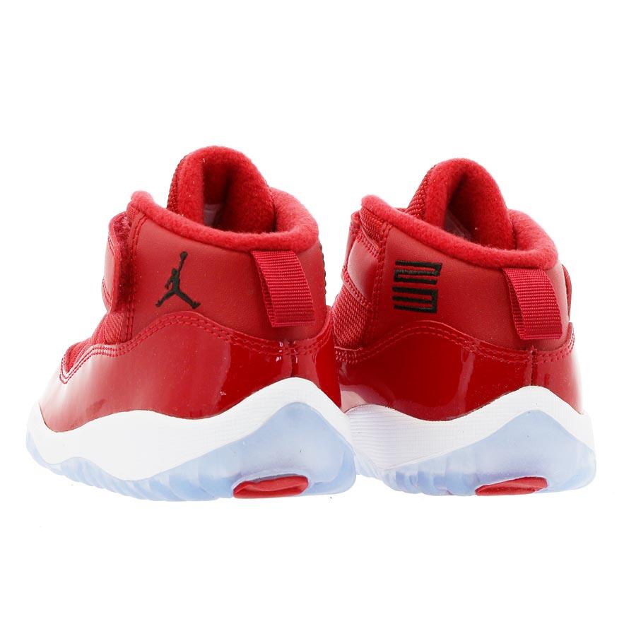 76a62f808aabc8 NIKE AIR JORDAN 11 RETRO BT Nike Air Jordan 11 nostalgic TD GYM RED BLACK  WHITE