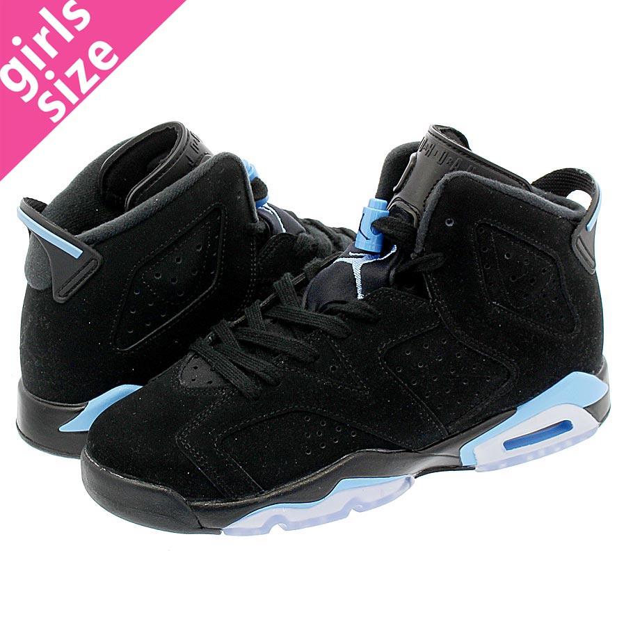 d0472861bd0 NIKE AIR JORDAN 6 RETRO BG Nike Air Jordan 6 nostalgic BG BLACK/UNIVERSITY  BLUE ...
