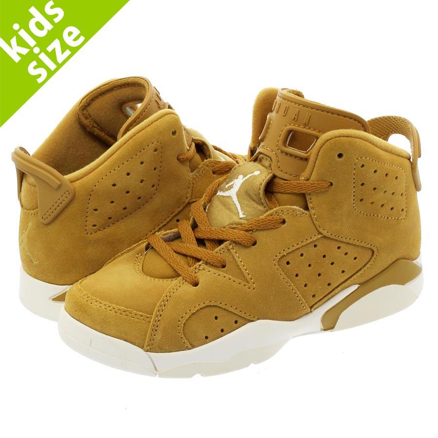 01ae4eccf14 NIKE AIR JORDAN 6 RETRO TD Nike Air Jordan 6 nostalgic TD GOLDEN  HARVEST/GOLDEN ...