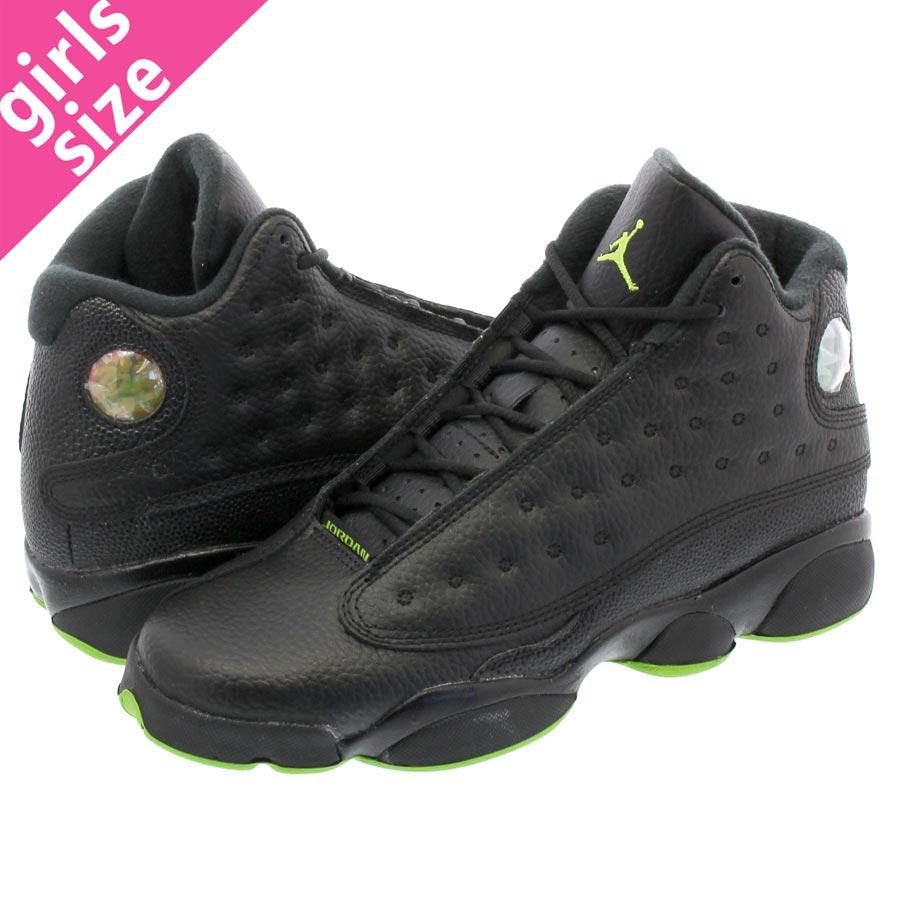 68c746e88d1c45 NIKE AIR JORDAN 13 RETRO BG Nike Air Jordan 13 nostalgic BG BLACK ALTITUDE  GREEN 414