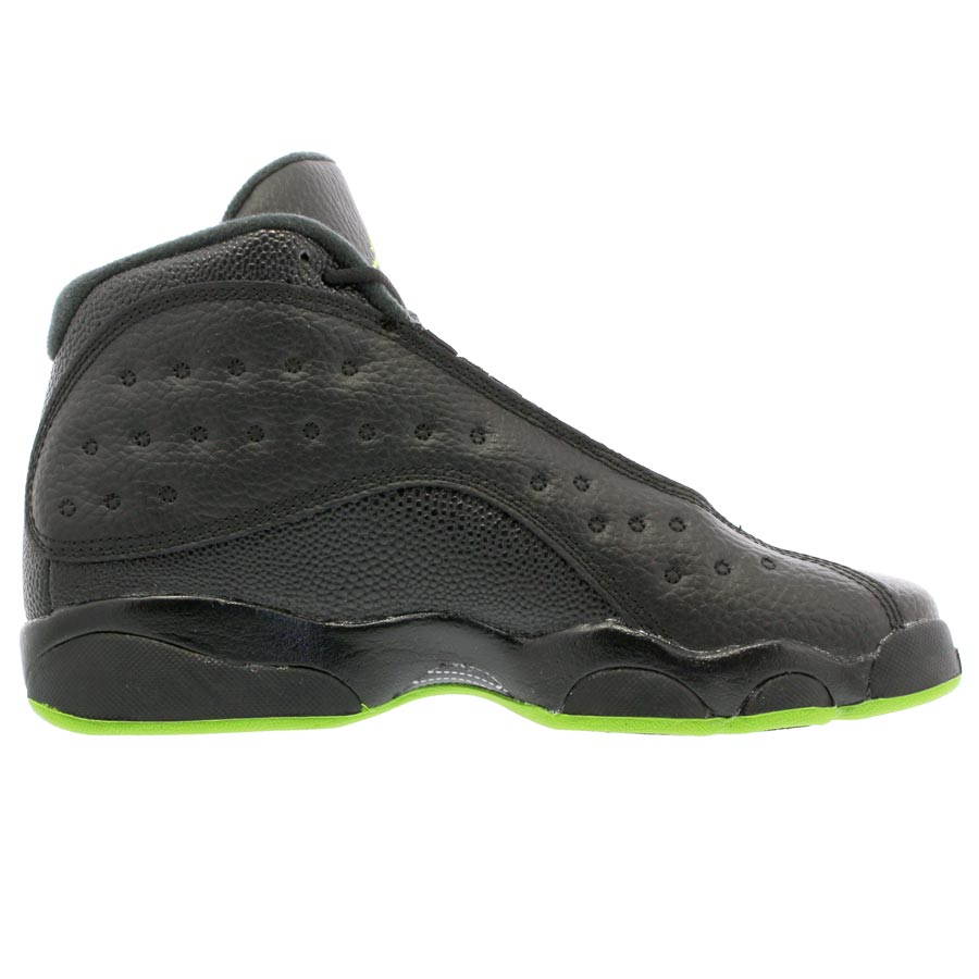 a80b9344544c0b NIKE AIR JORDAN 13 RETRO BG Nike Air Jordan 13 nostalgic BG BLACK ALTITUDE  GREEN 414