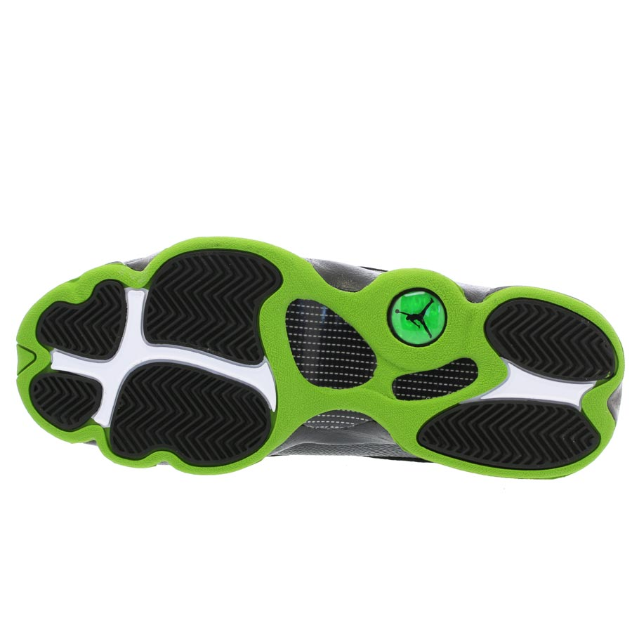 sports shoes 2e2b2 7454b NIKE AIR JORDAN 13 RETRO BG Nike Air Jordan 13 nostalgic BG BLACK ALTITUDE  GREEN 414,574-042