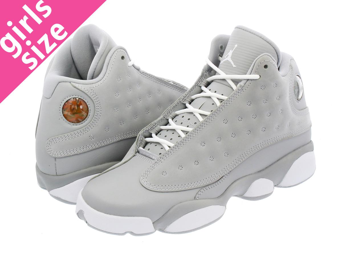 NIKE AIR JORDAN 13 RETRO GG Nike Air Jordan 13 nostalgic GG WOLF GREY DEADLY  PINK WHITE WHITE e3eb56f52