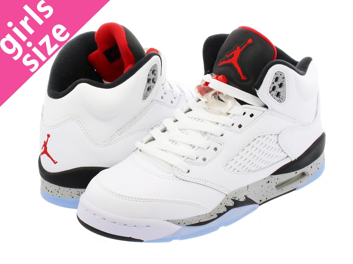 cd87eb9194 NIKE AIR JORDAN 5 RETRO BG Nike Air Jordan 5 nostalgic BG WHITE/UNIVERSITY  RED/BLACK/METALLIC SILVER