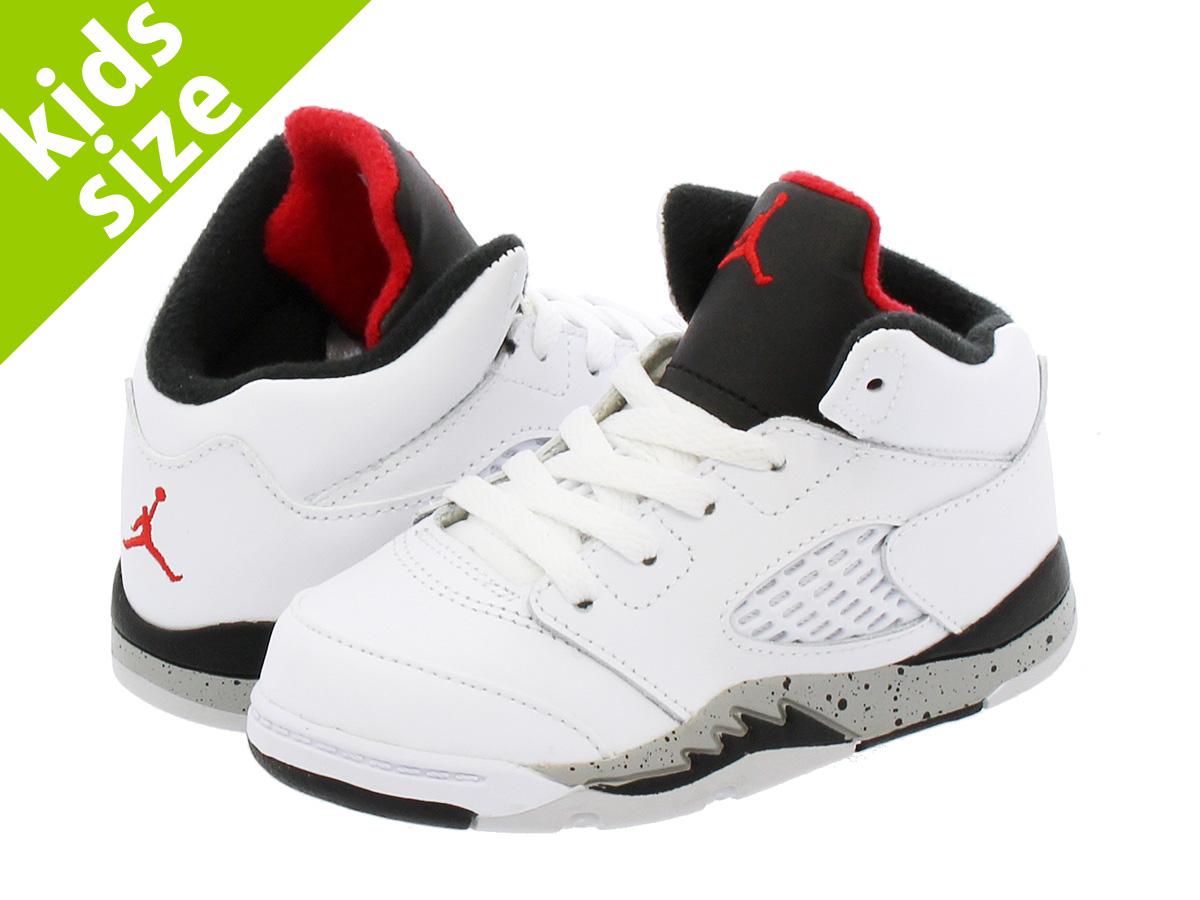 NIKE AIR JORDAN 5 RETRO BT Nike Air Jordan 5 nostalgic BT WHITE UNIVERSITY  RED BLACK METALLIC SILVER e2e0a49f1