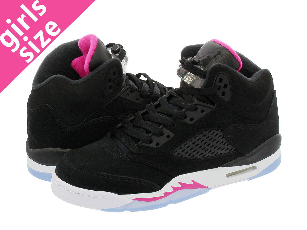 187d4378869 Categories. « All Categories · Shoes · Women's Shoes · Sneakers · NIKE AIR  JORDAN 5 RETRO GG Nike Air Jordan 5 nostalgic GG BLACK/DEADLY PINK