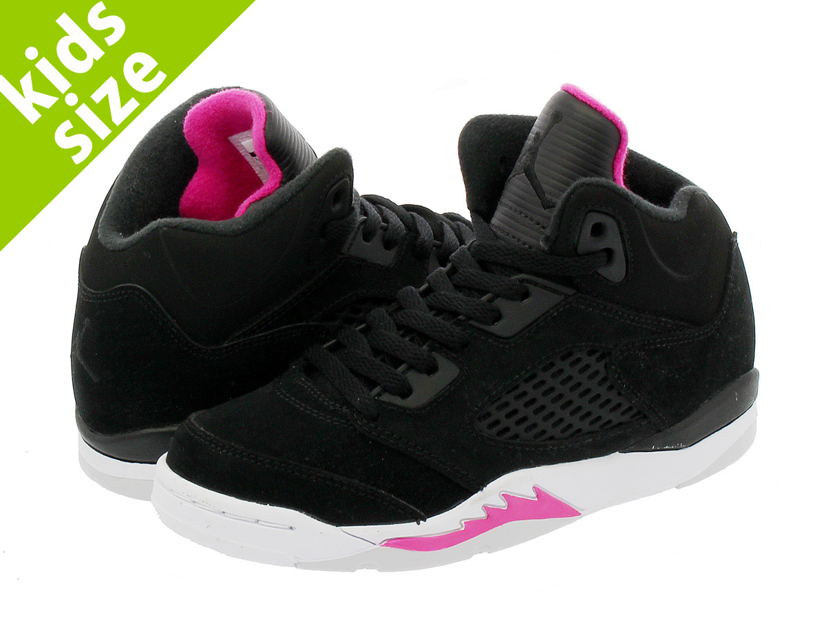 sports shoes 0aabc 4238b NIKE AIR JORDAN 5 RETRO GP Nike Air Jordan 5 nostalgic GP BLACK DEADLY PINK  ...