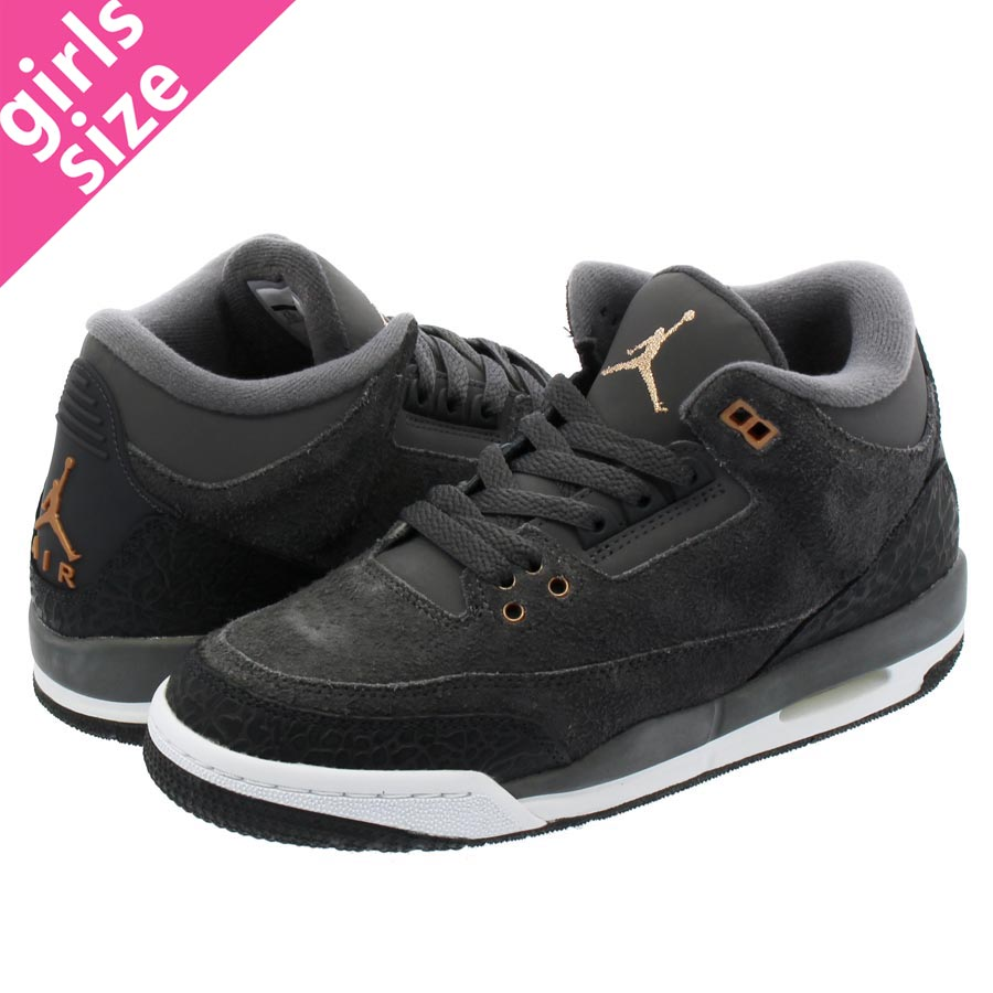 low priced f5667 2c28a NIKE AIR JORDAN 3 RETRO GG Nike Air Jordan 3 nostalgic GG  ANTHRACITE/METALLIC RED/BRONZE/WHITE/DARK GREY 441,140-035