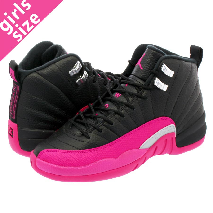 best sneakers a955b 7a1f2 NIKE AIR JORDAN 12 RETRO GG Nike Air Jordan 12 nostalgic GG BLACK/DEADLY  PINK 510,815-026