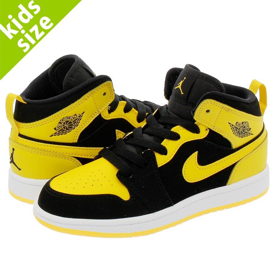 b6934f55376d NIKE AIR JORDAN 1 MID BP Nike Air Jordan 1 mid BP BLACK VARSITY MAIZE WHITE