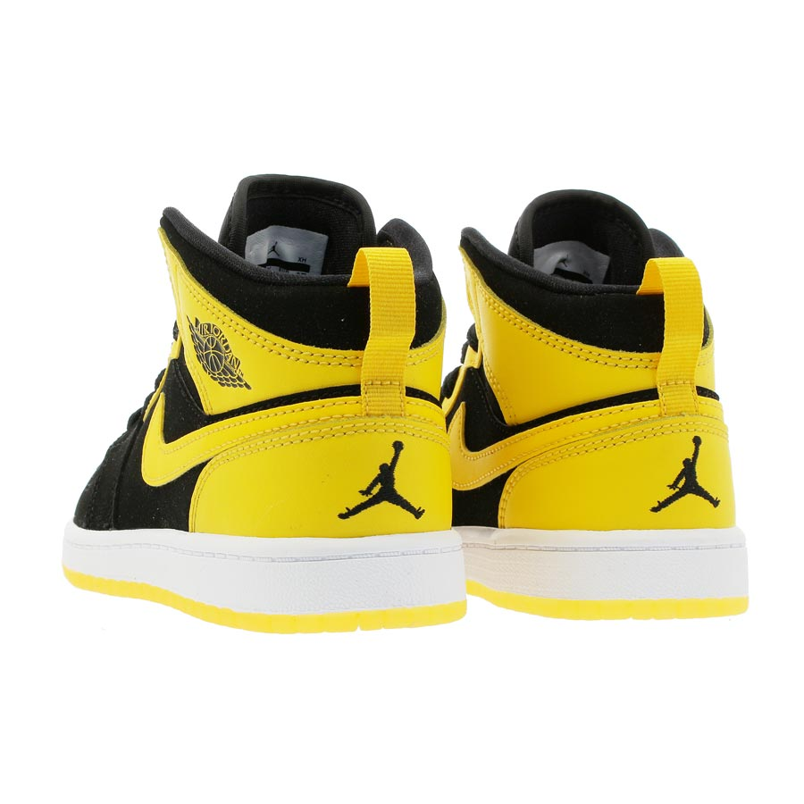 f4ce7d42694c NIKE AIR JORDAN 1 MID BP Nike Air Jordan 1 mid BP BLACK VARSITY MAIZE WHITE