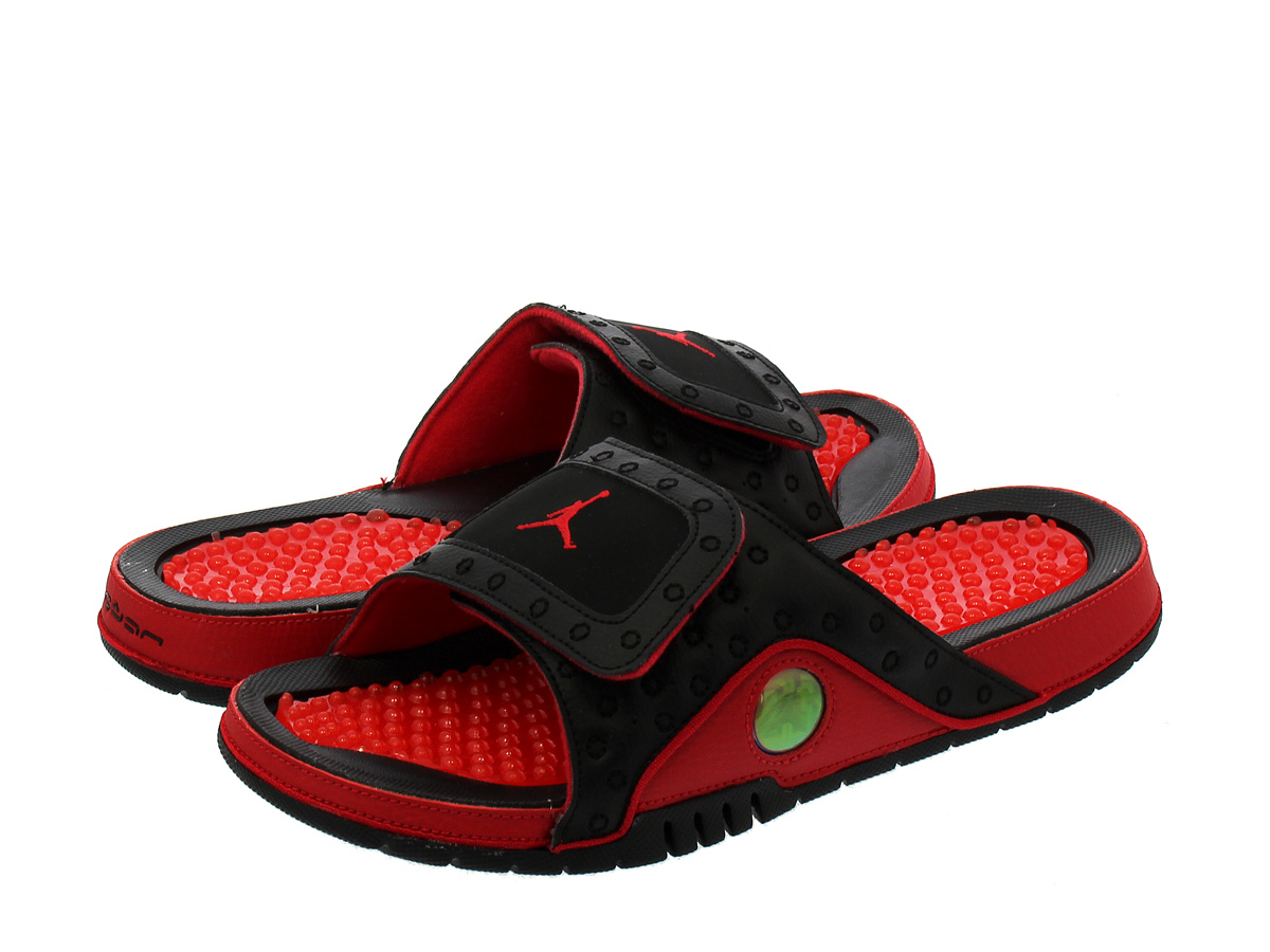 timeless design 6d686 984ca NIKE JORDAN HYDRO 13 RETRO SLIDE Nike Jordan high mud 13 nostalgic slide  BLACK/TRUE RED