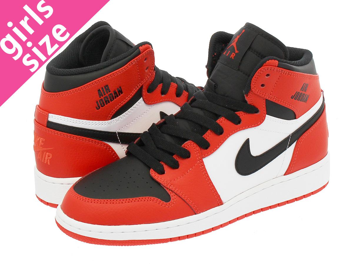 best authentic 76084 e0428 NIKE AIR JORDAN 1 RETRO HIGH BG Nike Air Jordan 1 nostalgic high BG MAX  ORANGE MAX ORANGE WHITE