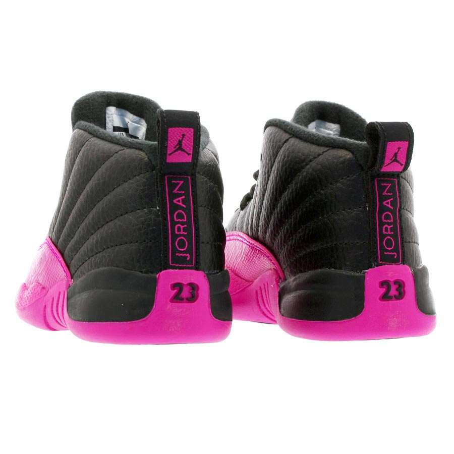 new product 35ab1 898e1 NIKE AIR JORDAN 12 RETRO TD Nike Air Jordan 12 nostalgic TD BLACK/DEADLY  PINK