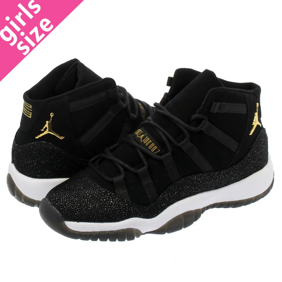 16ec075f6881 NIKE AIR JORDAN 11 RETRO PREM HC Nike Air Jordan 11 nostalgic premium HC 1  BLACK GOLD WHITE INFRARED 23