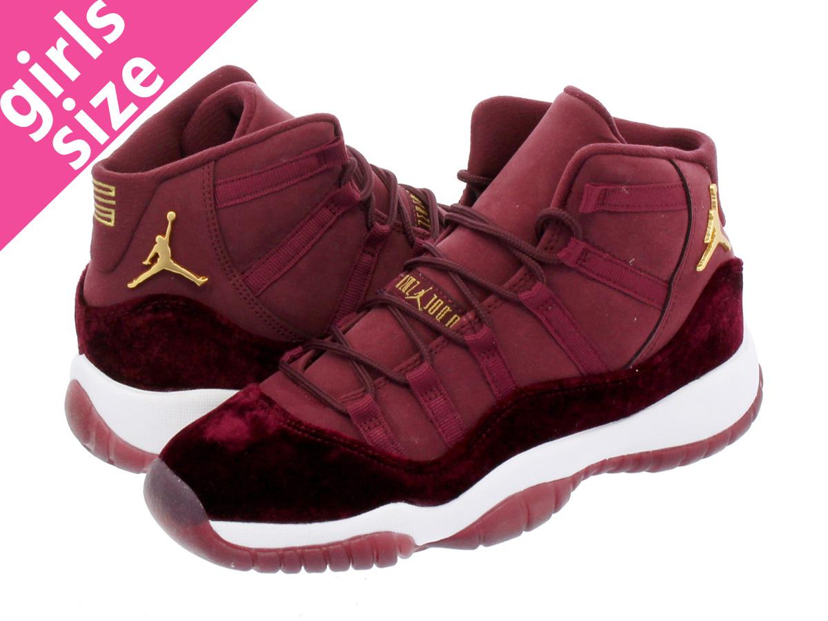 fcaff62f3e9 NIKE AIR JORDAN 11 RETRO GG Nike Air Jordan 11 nostalgic GG NIGHT MAROON/METALLIC  ...