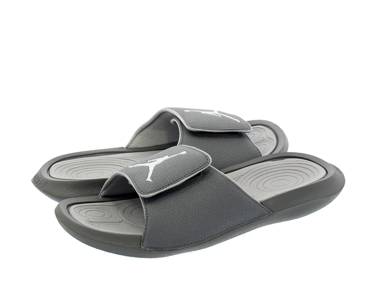 068b7ed1ce490c ... NIKE JORDAN HYDRO 6 RETRO SLIDE Nike Jordan high mud 6 nostalgic slide  COOL GREY WHITE ...