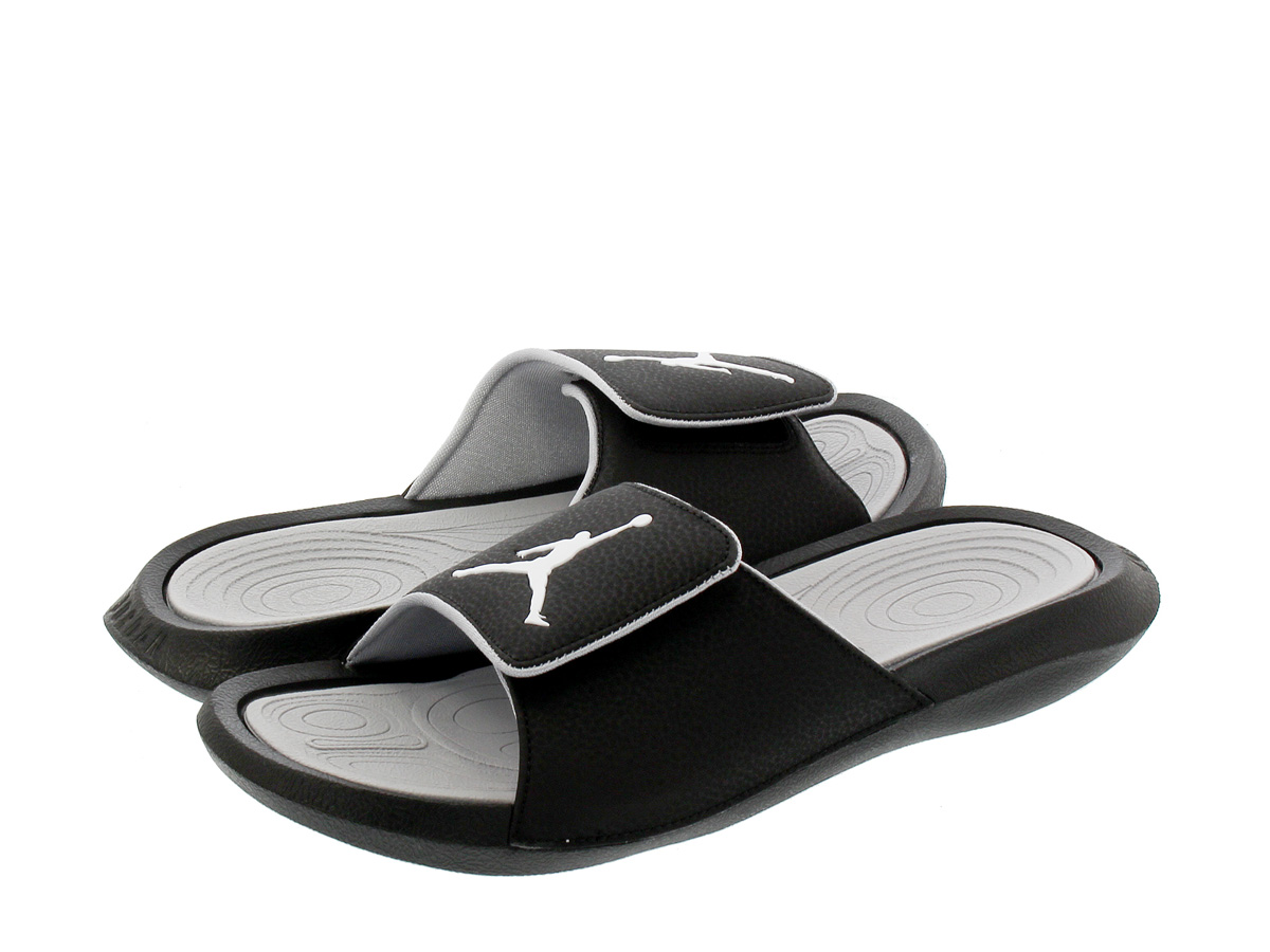 7482930b2 NIKE JORDAN HYDRO 6 RETRO SLIDE Nike Jordan high mud 6 nostalgic slide  BLACK GREY WHITE