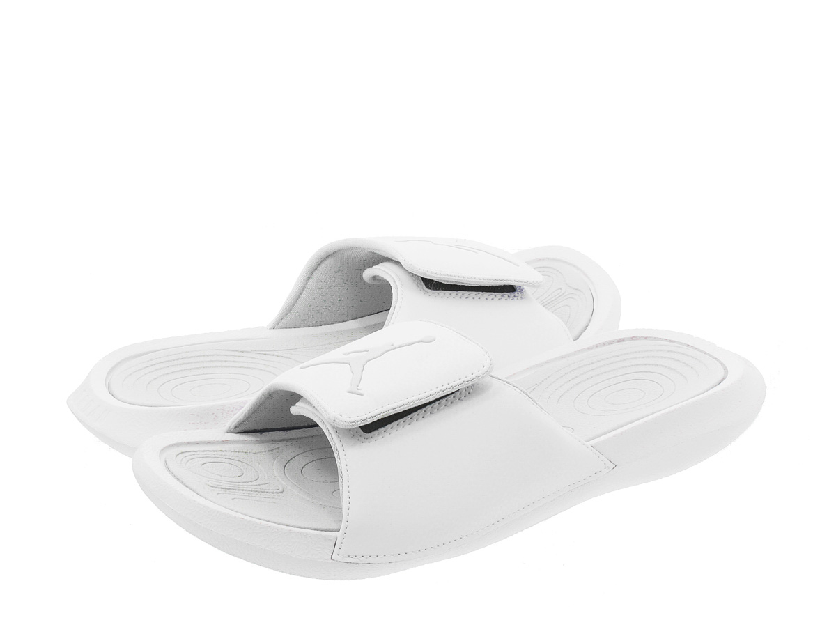 2c21be114538 NIKE JORDAN HYDRO 6 RETRO SLIDE Nike Jordan high mud 6 nostalgic slide WHITE  PURE PLATINUM