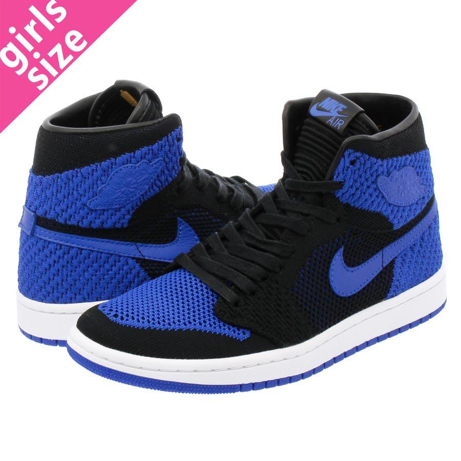 471e5eb33498 NIKE AIR JORDAN 1 RETRO HI FLYKNIT BG Nike Air Jordan 1 nostalgic high  fried food knit BG BLACK GAME ROYAL WHITE