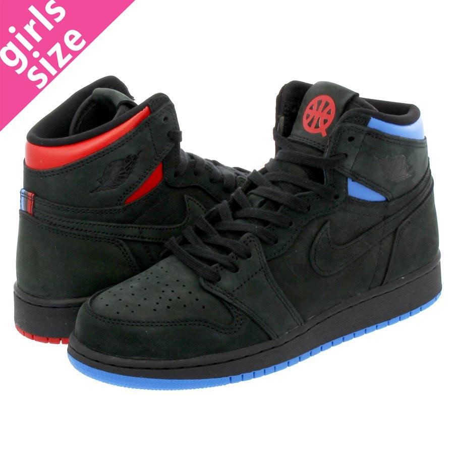 half off d7652 fc822 NIKE AIR JORDAN 1 RETRO HIGH OG Q54 BG Nike Air Jordan 1 nostalgic high OG  Q54 BG BLACK/BLUE/RED ah1041-054