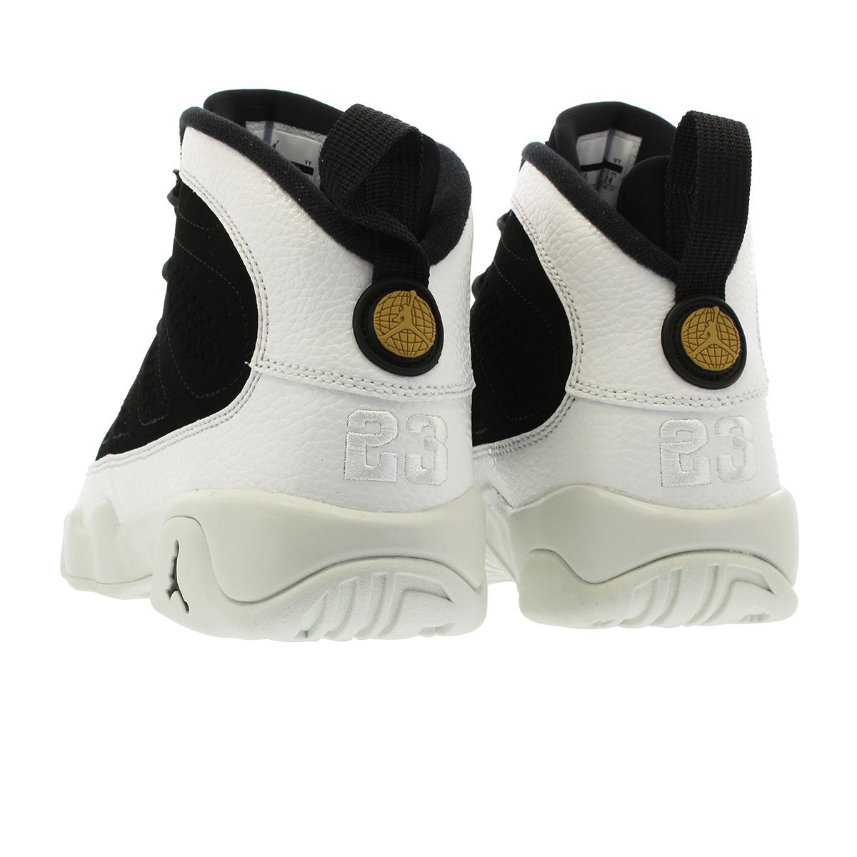 watch bf1e3 4b3a6 NIKE AIR JORDAN 9 RETRO GS Nike Air Jordan 9 GS BLACK/SUMMIT WHITE/METALLIC  GOLD 302,359-021