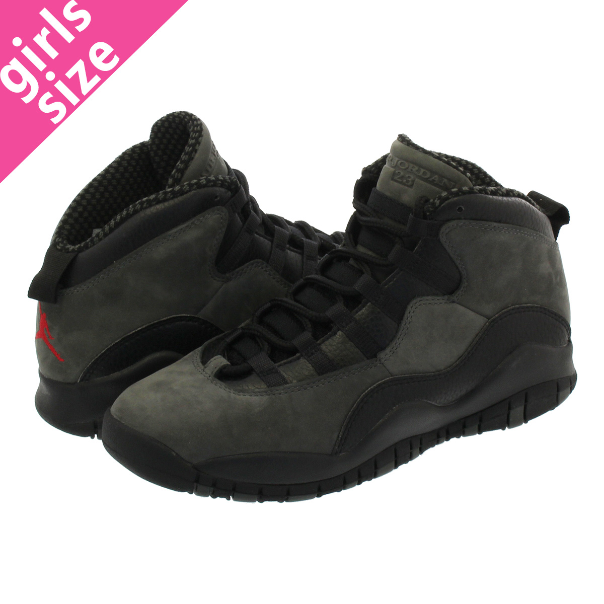 check out 566ea 4314c NIKE AIR JORDAN 10 RETRO BG Nike Air Jordan 10 nostalgic BG DARK SHADOW TRUE  RED BLACK 310,806-002