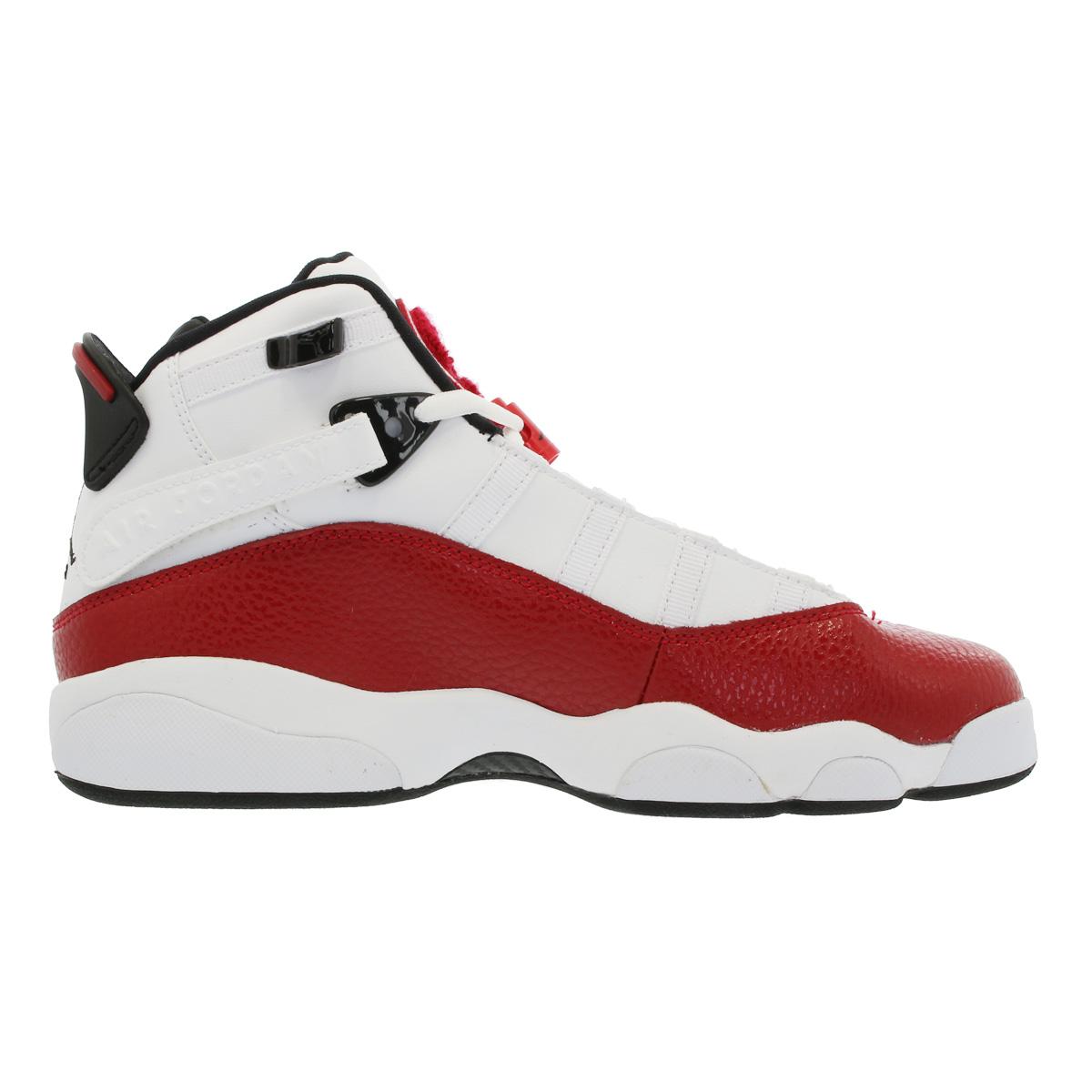 d877684f7b68a NIKE JORDAN 6 RINGS BG Nike Jordan 6 RINGS Co.,Ltd. BG WHITE/GYM RED/BLACK  323,419-120