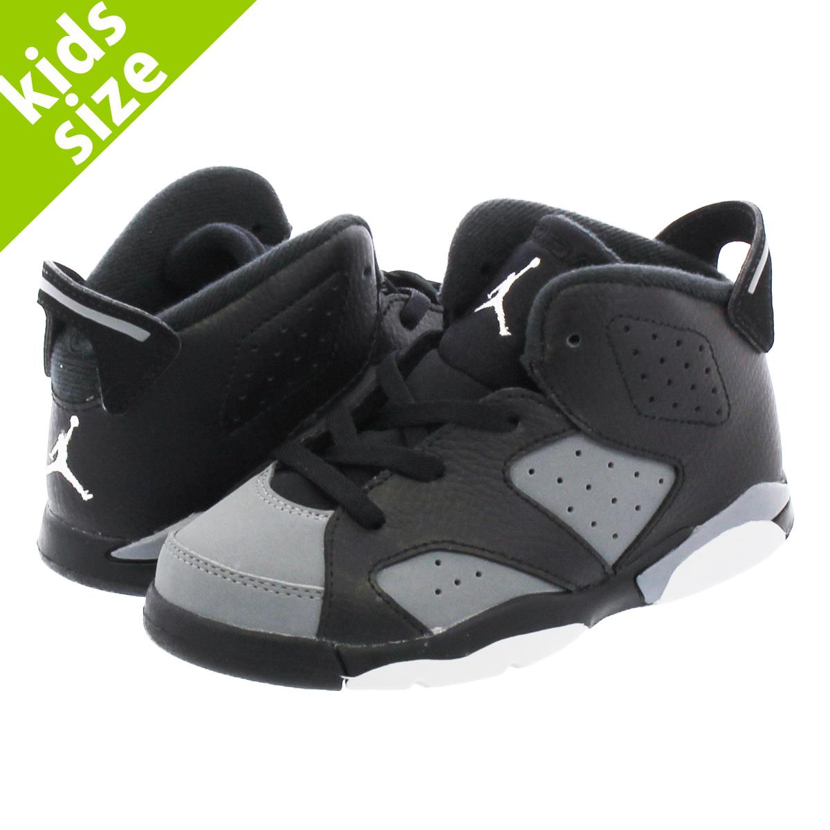 a14e695eeb0 NIKE AIR JORDAN 6 RETRO BT Nike Air Jordan 6 nostalgic BT BLACK/GREY/ ...