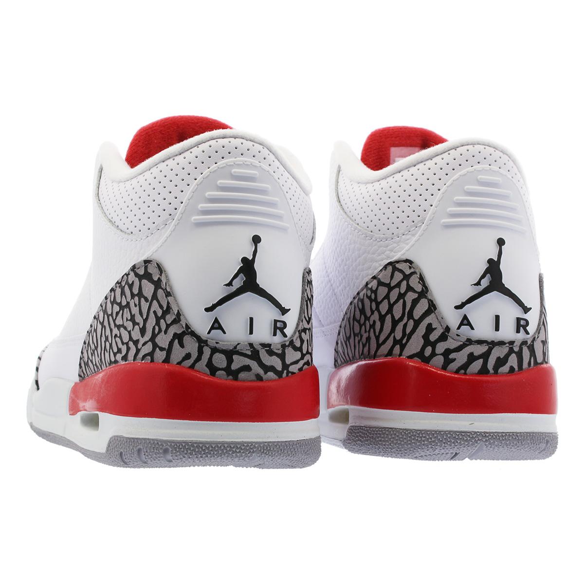 93c597e7e0a NIKE AIR JORDAN 3 RETRO BG Nike Air Jordan 3 nostalgic BG WHITE CEMENT  GREY FIRE RED 398