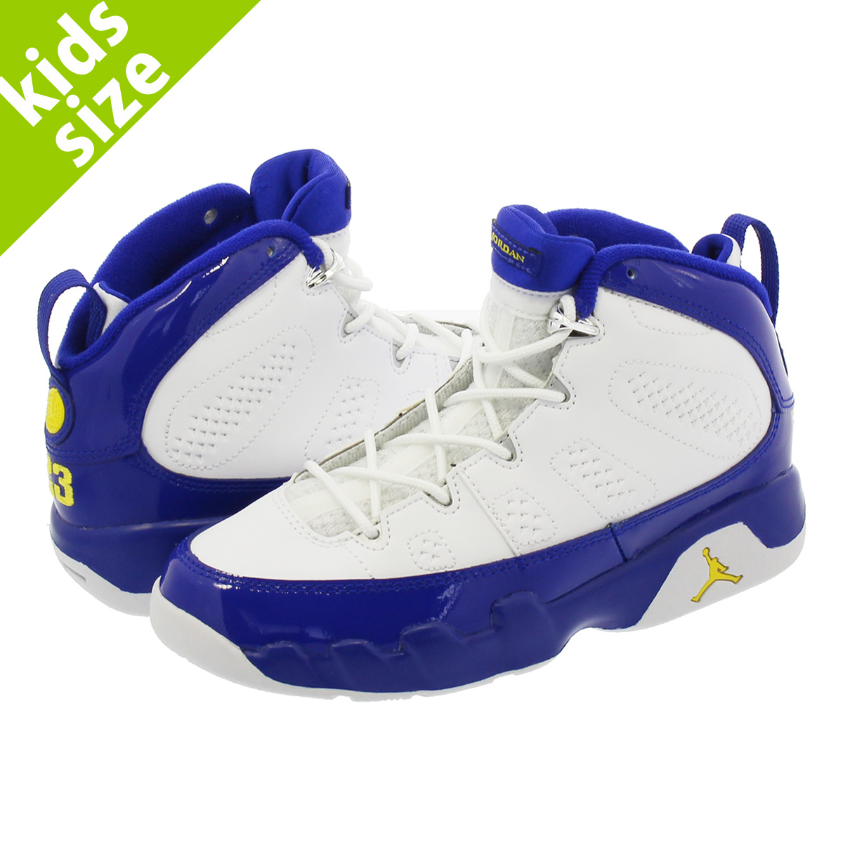 452d8d242ce LOWTEX BIG-SMALL SHOP: NIKE AIR JORDAN 9 RETRO PS Nike Air Jordan 9  nostalgic PS WHITE/CONCORD/TOUR YELLOW 401,811-121 | Rakuten Global Market