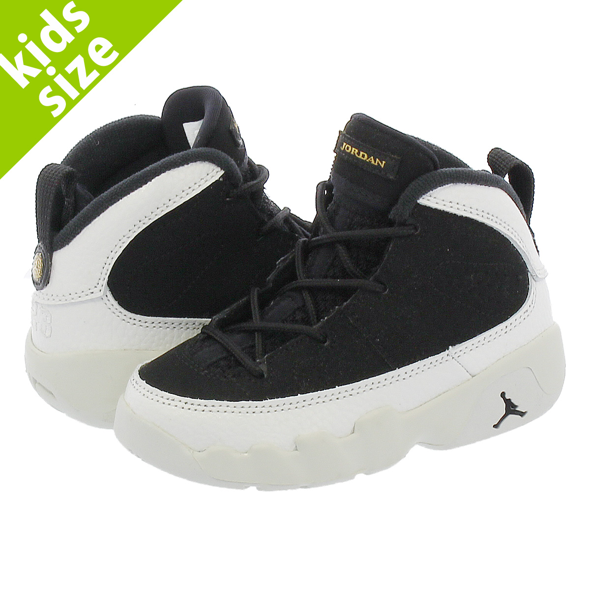 e644b4cfffe NIKE AIR JORDAN 9 RETRO TD Nike Air Jordan 9 nostalgic TD BLACK/SUMMIT  WHITE ...