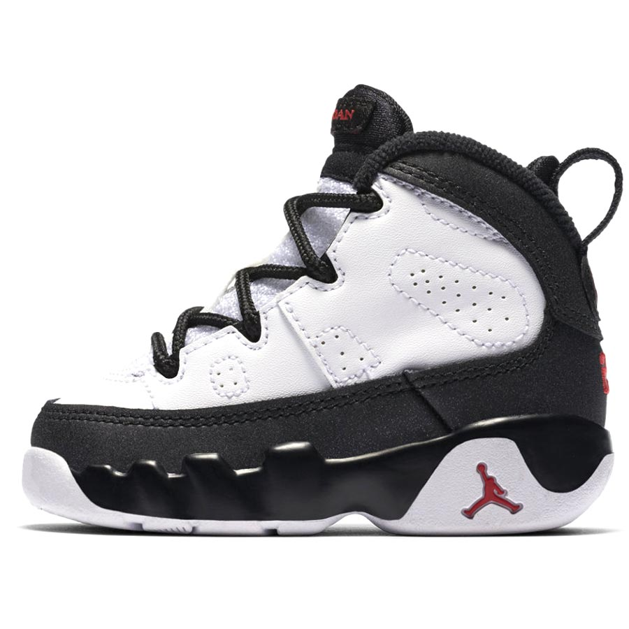 676841c3660fdf NIKE AIR JORDAN 9 RETRO TD Nike Air Jordan 9 nostalgic TD WHITE TRUE RED BLACK  401