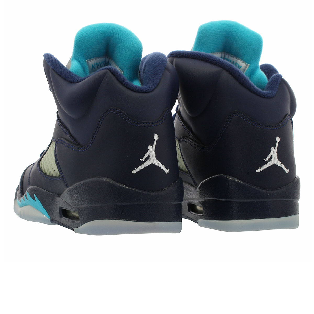 online store d26a7 52e14 ... NIKE AIR JORDAN 5 RETRO BG Nike Air Jordan 5 nostalgic BG MIDNIGHT NAVY TURQUOISE  ...