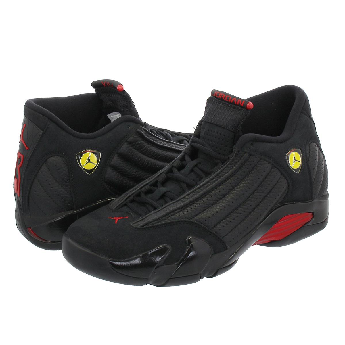 871129ab87d0cb NIKE AIR JORDAN 14 RETRO Nike Air Jordan 14 nostalgic BLACK VARSITY RED  487