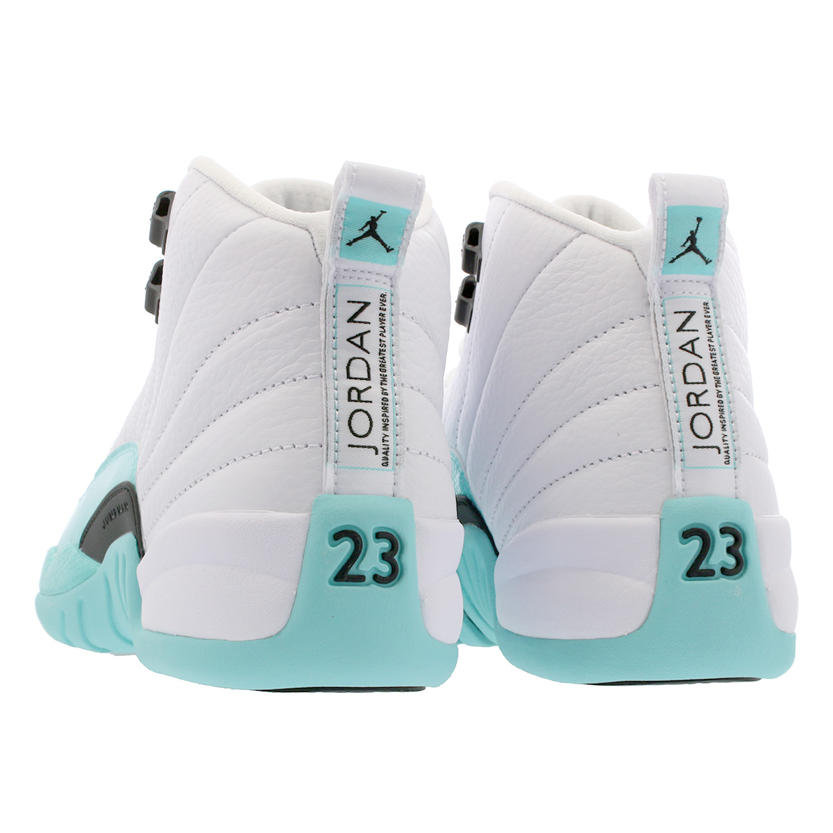 c40ca0927a99 NIKE AIR JORDAN 12 RETRO GG Nike Air Jordan 12 nostalgic GG WHITE LIGHT  AQUA BLACK 510